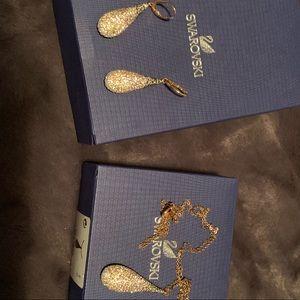 Swarovski tear drop necklace and earrings